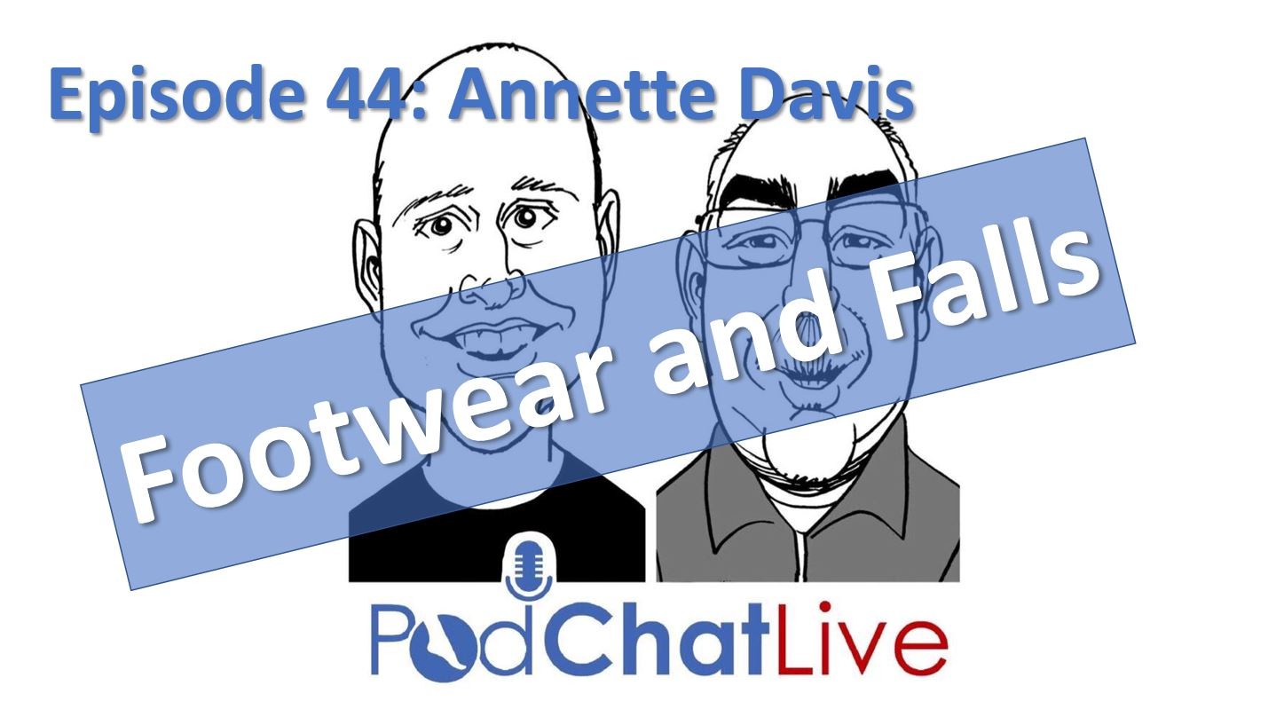 Episode 44 with Annette Davis [Footwear and Falls]